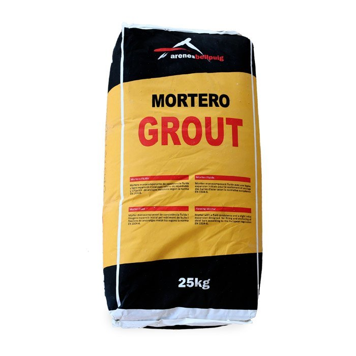 Sac morter grout fluid
